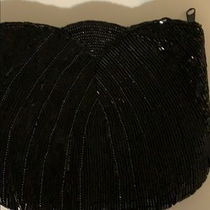La Regale vintage blk beaded evening purse/clutch